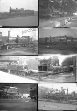 Approximately 55 medium format negatives. Mostly LSWR and LBSCR with a small amount of GWR taken