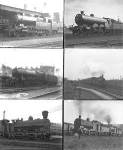Approximately 58 large format glass negatives. Mostly LMS, but also some LNER, Metropolitan, LNWR,