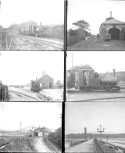 Approximately 21 large format glass negatives Talyllyn Rly and Festiniog Rly (narrow gauge) taken in