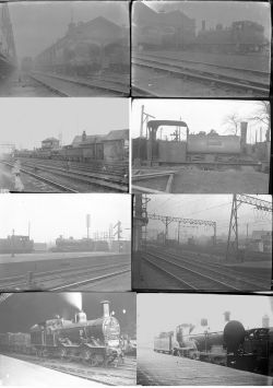 Approximately 53 medium format negatives. A mix of LBSCR, LSWR and Midland taken in 1920. Of