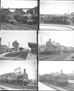 Qty 16 large format glass negatives. All LMS taken in 1936; qty 14 S&D and qty 2 at Bristol.