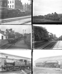 Approximately 50 large format glass negatives. Most are LSWR but there are a number of Midland