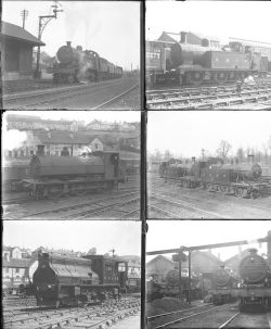 Approximately 36 large format glass negatives. All Somerset & Dorset Joint Rly taken in 1929.