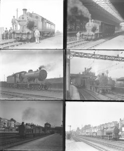 Approximately 55 large format glass negatives. Including LMS, L&Y and a few GWR taken in 1933.