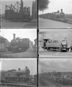 Approximately 49 large format, mainly glass, some non-glass negatives. Mainly LSWR, some SR and