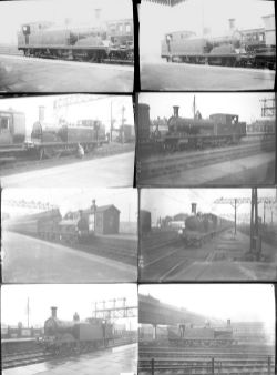Approximately 100 medium format negatives. A mixture of LSBSR, LSWR, GWR, SE&CR and MR taken in