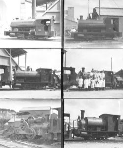 Qty 12 large format glass negatives, industrial locomotives taken at the APCM Works Stone Crossing