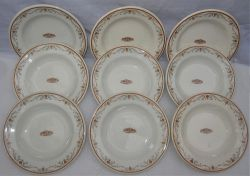 9 x large PULLMAN bowls with Pullman logo in centre. Beautiful pattern all in good condition.