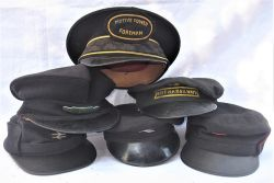 A lot containing 6 x railway uniform caps to include MOTIVE POWER FOREMAN. A British Railways