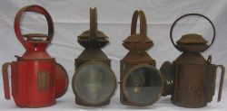 4 x railway Guards hand lamps. 1 x LNER LOCO. 1 x London Transport and 2 x BR(E) all complete with