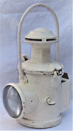BR Eastern Region locomotive head lamp. Complete with vessel, burner and flip over red shade.