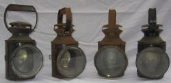 4 x British Railways standard pattern Guards Hand lamps. All complete with vessels and burners