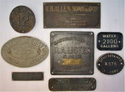 A collection of miscellaneous works plates to include RA LISTER. BAKERS (LEEDS). WH HALLEN SONS & CO