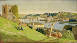 Carriage print BIDEFORD by Hesketh Hubbard from the Southern Railway Series. In very good condition,