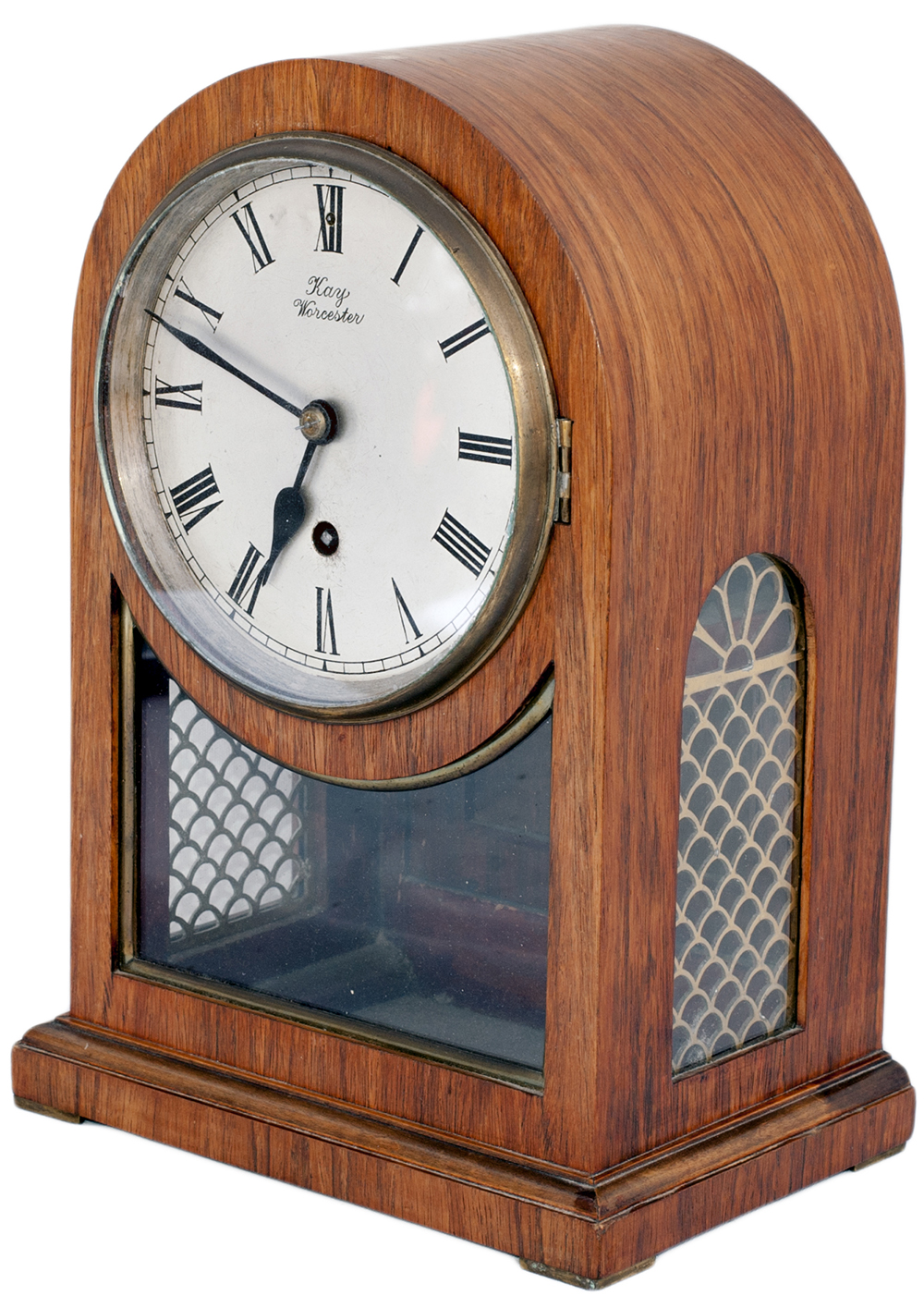 Lot 204 - Great Western Railway 6.5in dial bracket railway clock. The Mahogany arched top case has a rear