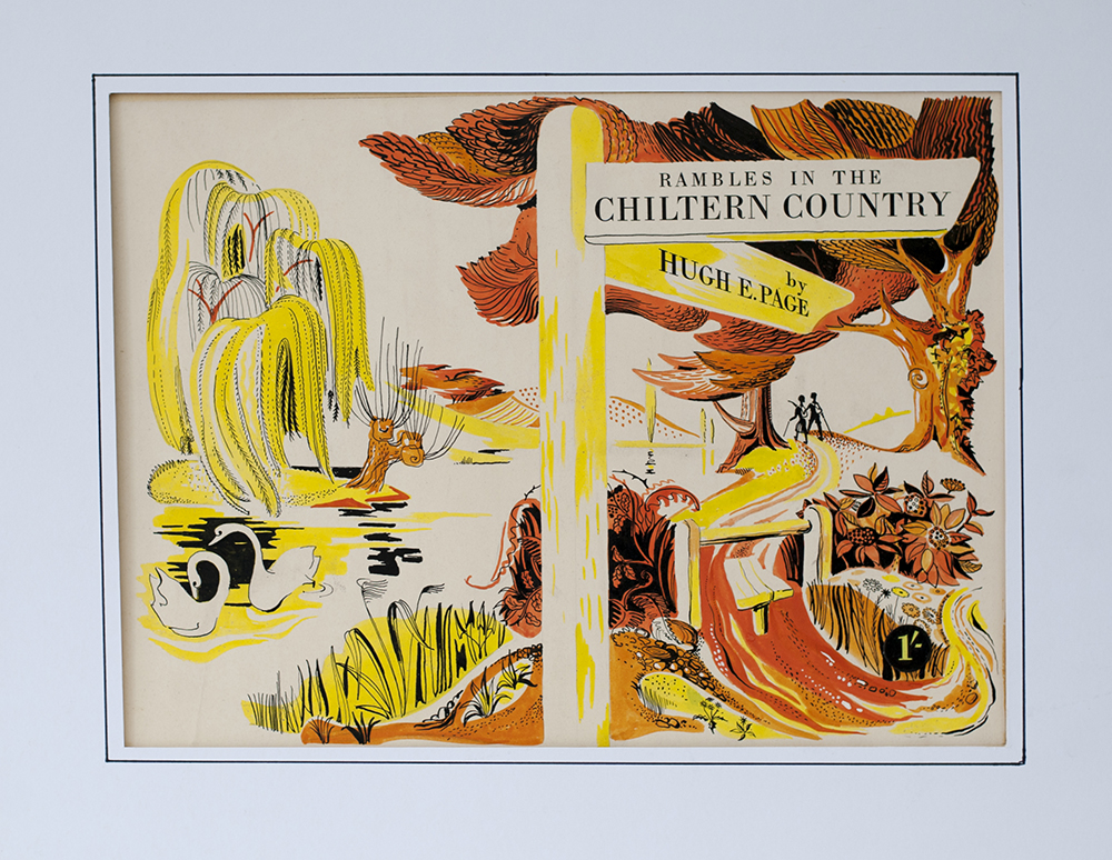 Lot 42 - Original artwork for the 1940's GWR book Rambles In The Chiltern Country by John Lawrence. Ink and