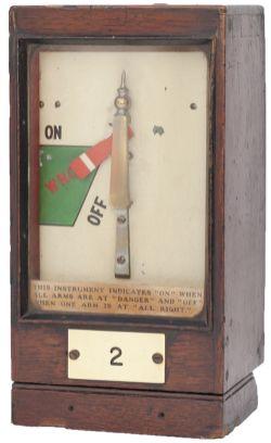 GWR mahogany cased signal box Home Signal Indicator plated 2 and still retaining its original