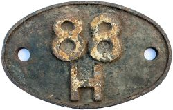 Shedplate 88H Tondu 1961-1964. In original condition with clear Swindon casting marks to rear and
