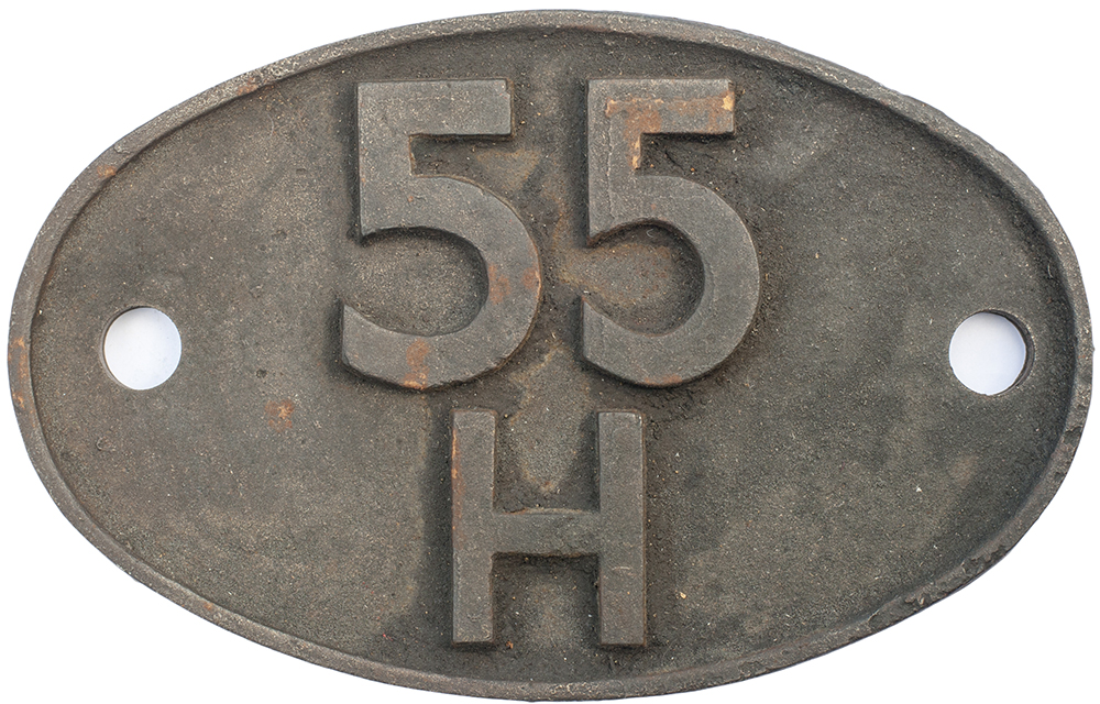 Lot 16 - Shedplate 55H Leeds Neville Hill 1960-1966. In as removed condition.
