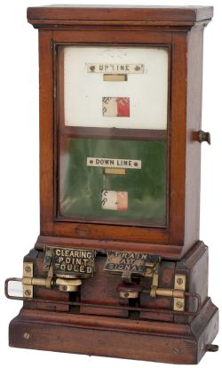 GWR Spagnoletti Double Line Block Instrument complete with both tappers and early UP LINE and DOWN