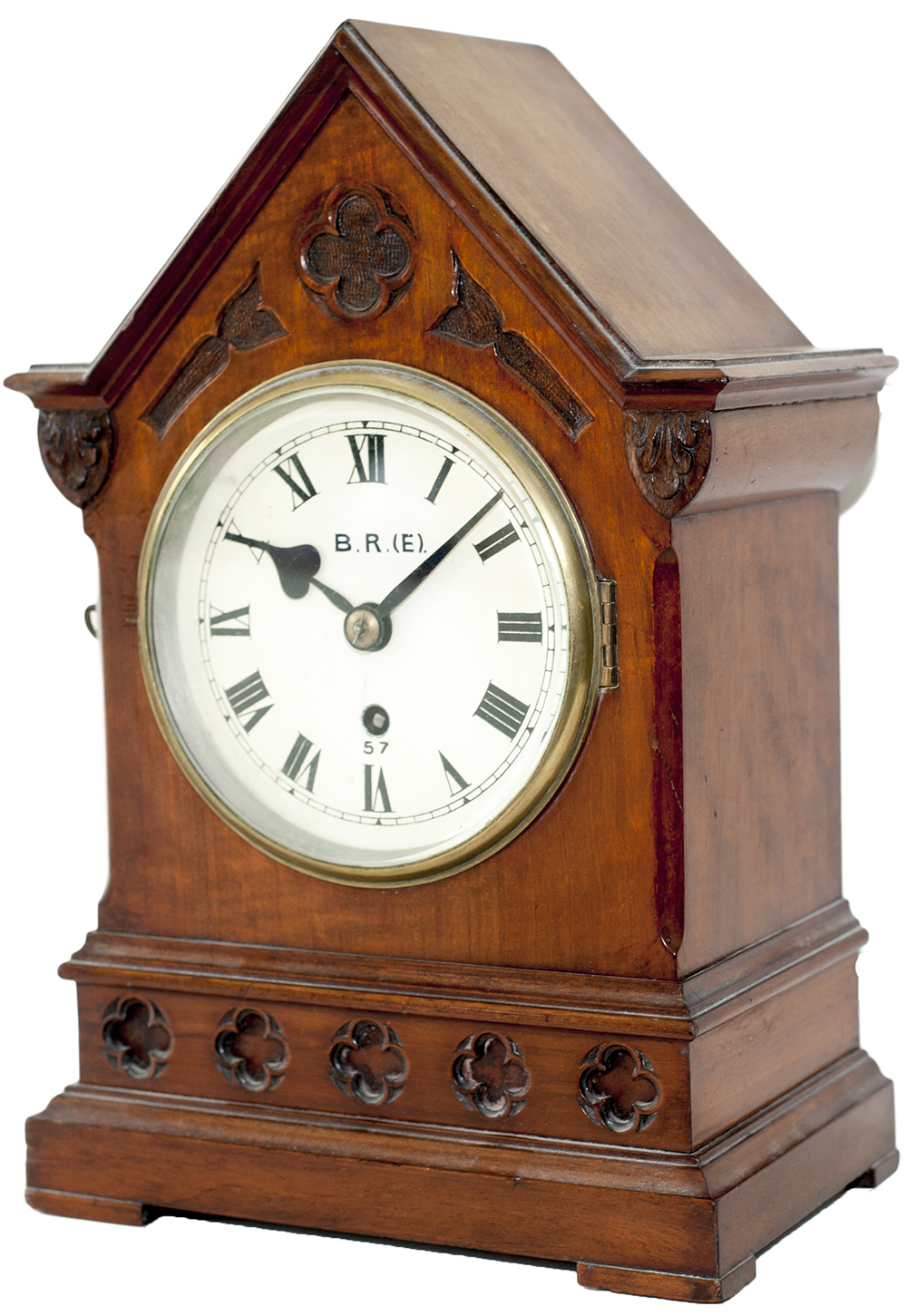 Lot 133 - Great Eastern Railway 6inch Mahogany cased Fusee Bracket clock manufactured for the G.E.R. by