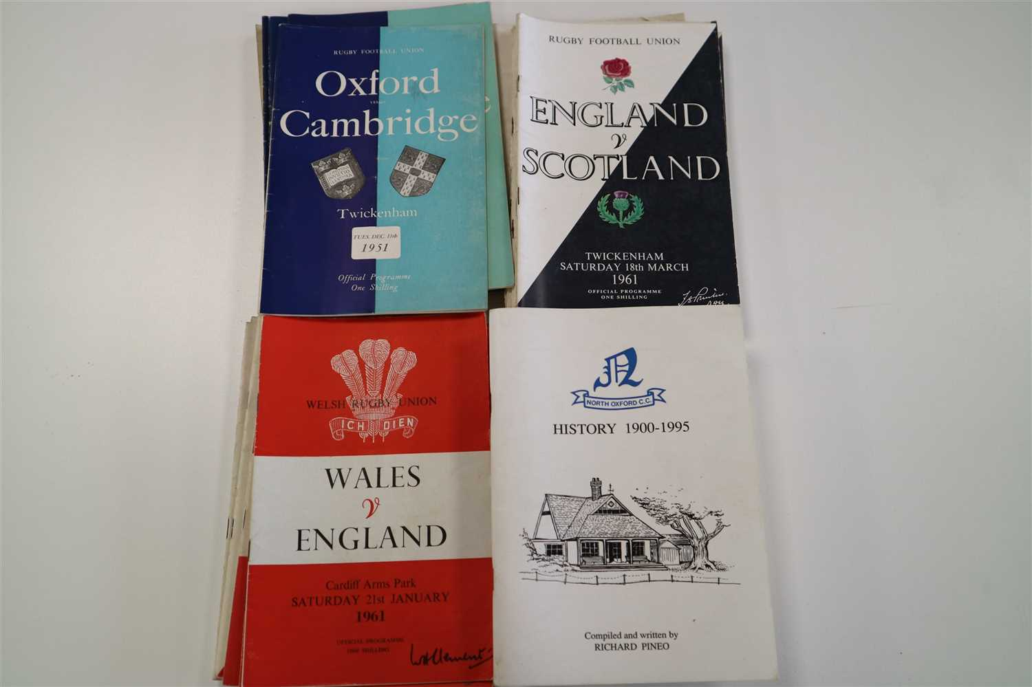 Lot 168 - WISDEN CRICKETERS' ALMANACK, 1944, 45, 46, 47, 49, 50, all soft covers, and 1961 (lacking title) and