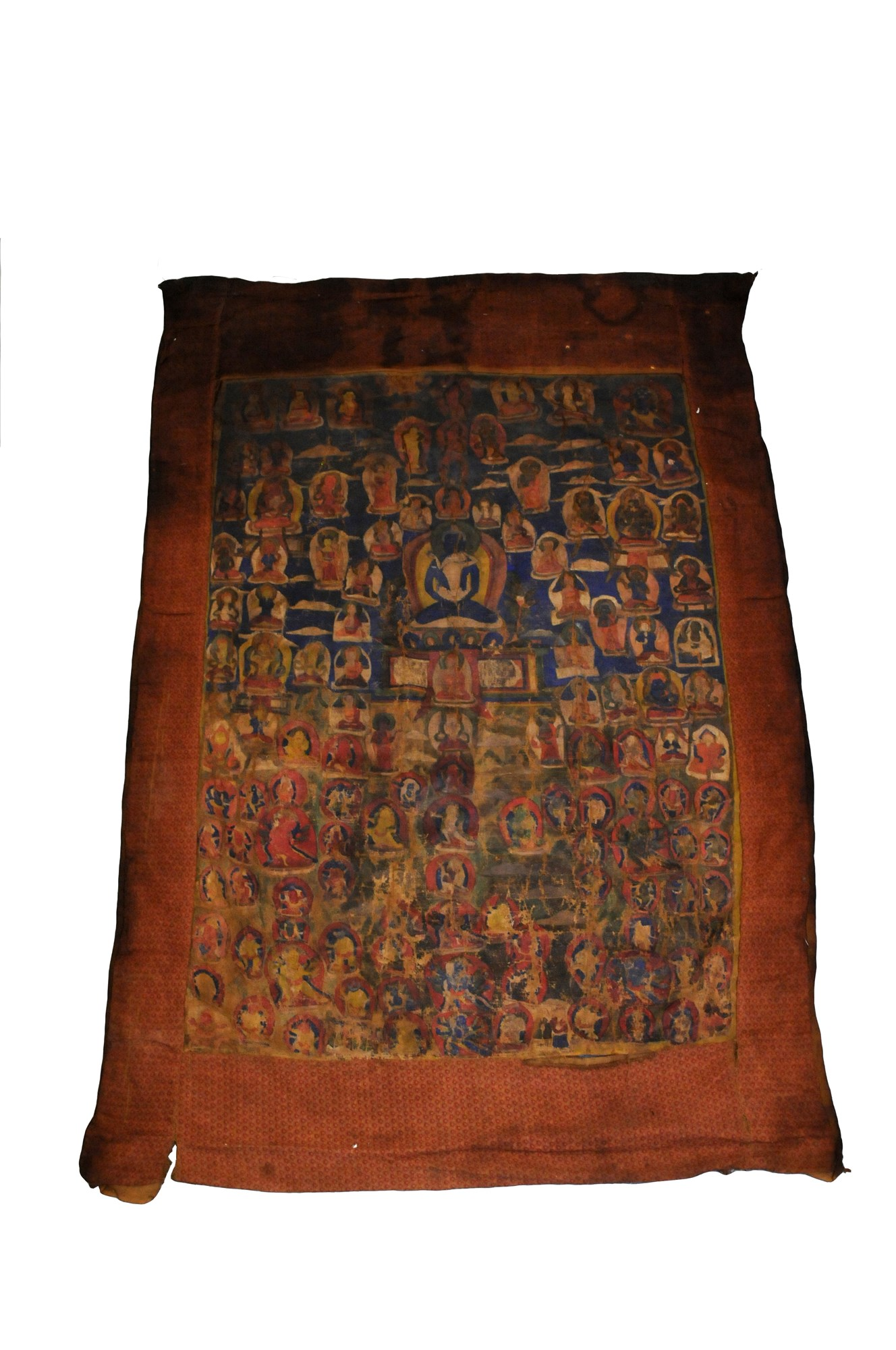 A thangka of Samantabhadra and Samantabhadri, Tibet