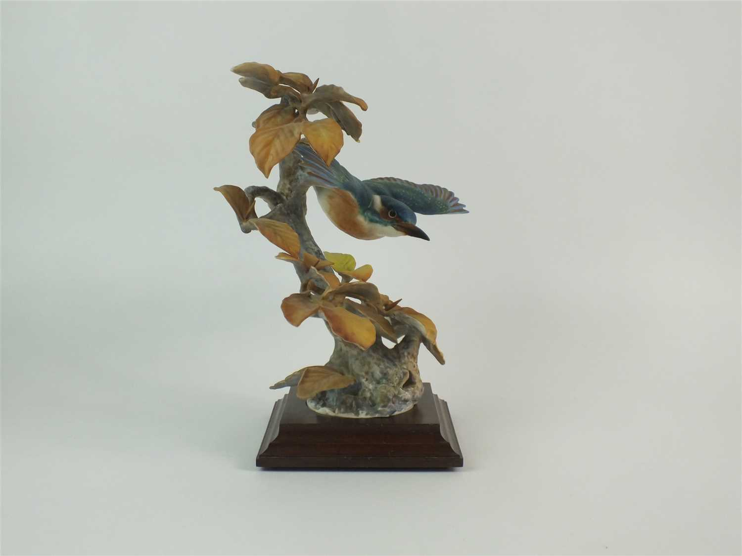 Lot 67 - A Royal Worcester model of a Kingfisher and Autumn Beech