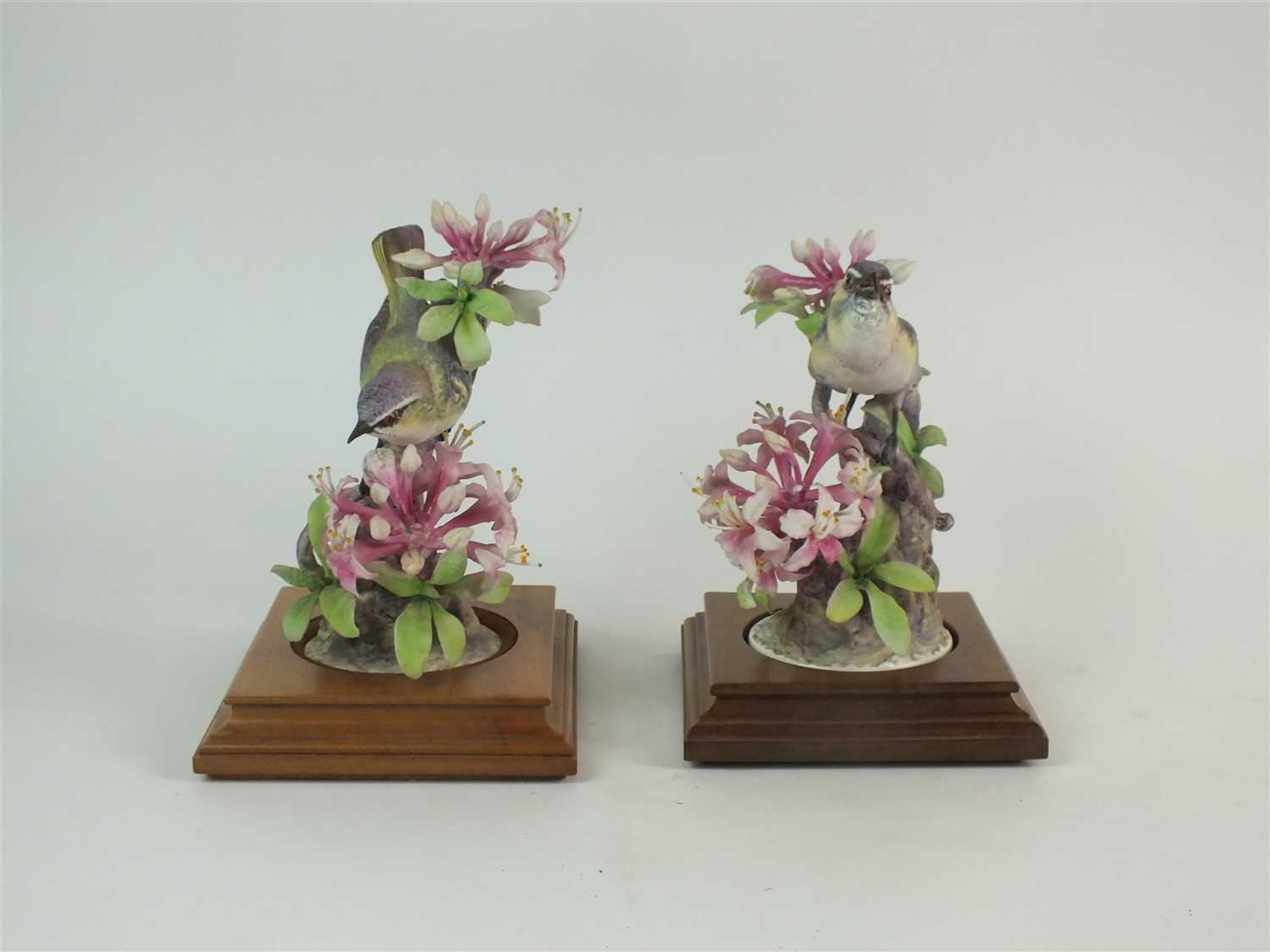 Lot 75 - A pair of Royal Worcester models of Red-Eyed Vireos