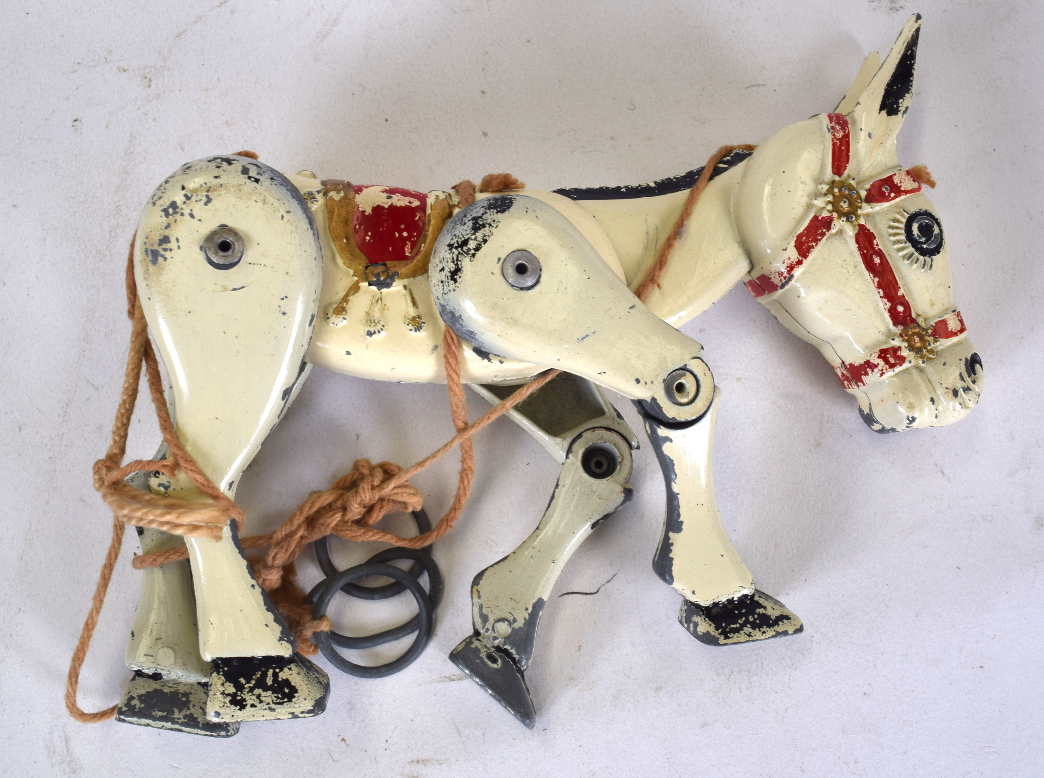 Lot 2461 - A RARE VINTAGE MUFFIN THE MULE TOY PUPPET, with original strings. 15.5 cm wide.