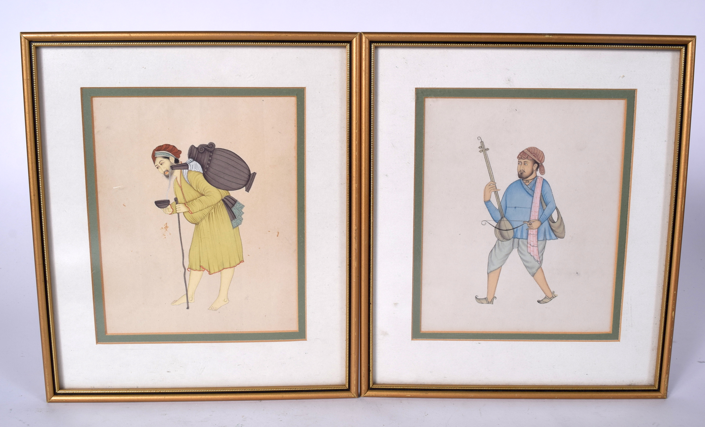 Lot 2643 - INDIAN SCHOOL (early 20th century) FRAMED PAIR WATERCOLOURS, a tradesman, together with another sim