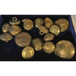 Lot 46 - A quantity of brass uniform buttons.