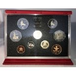 Lot 41 - A Royal Mint United Kingdom Proof Coin Set, 1992, deluxe blue case, 1992/1993 dual dated EC fifty