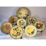 Lot 30 - A collection of Bossons handpainted plates depicting flowers. Excellent condition. (10)