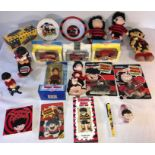 Lot 28 - A large collection of Dennis The Menace miscellany to include Die-Cast models, Danbury mint Ofiicial