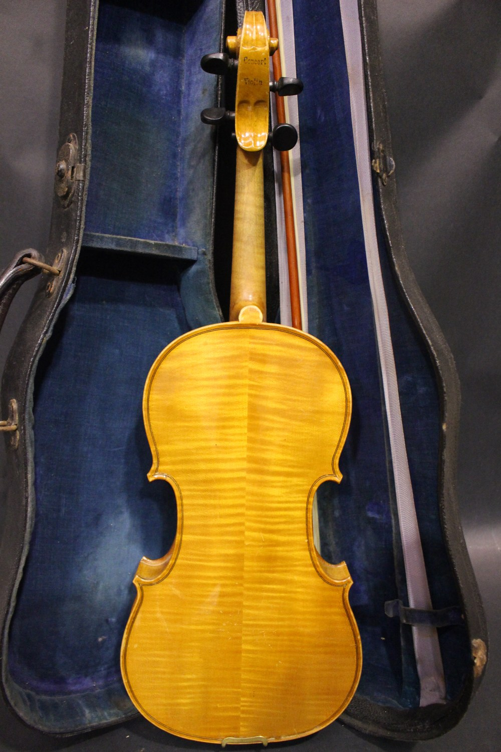 Lot 329 - A CZECHOSLOVAKIAN CONCERT VIOLIN, cased with bow, bearing internal label 'copy of Antonius