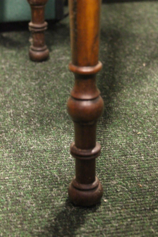 "Lot 14 - AN IRISH GEORGIAN MAHOGANY SINGLE DRAWER CHAMBER TABLE, raised on a turned leg, 22"" x 30"" x 18"""