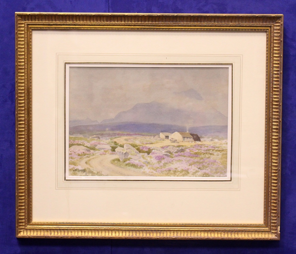 """Lot 1 - J.W. CAREY, """"MUCKISH, DONEGAL"""", watercolour over pencil on paper, signed lower left, inscribed"""