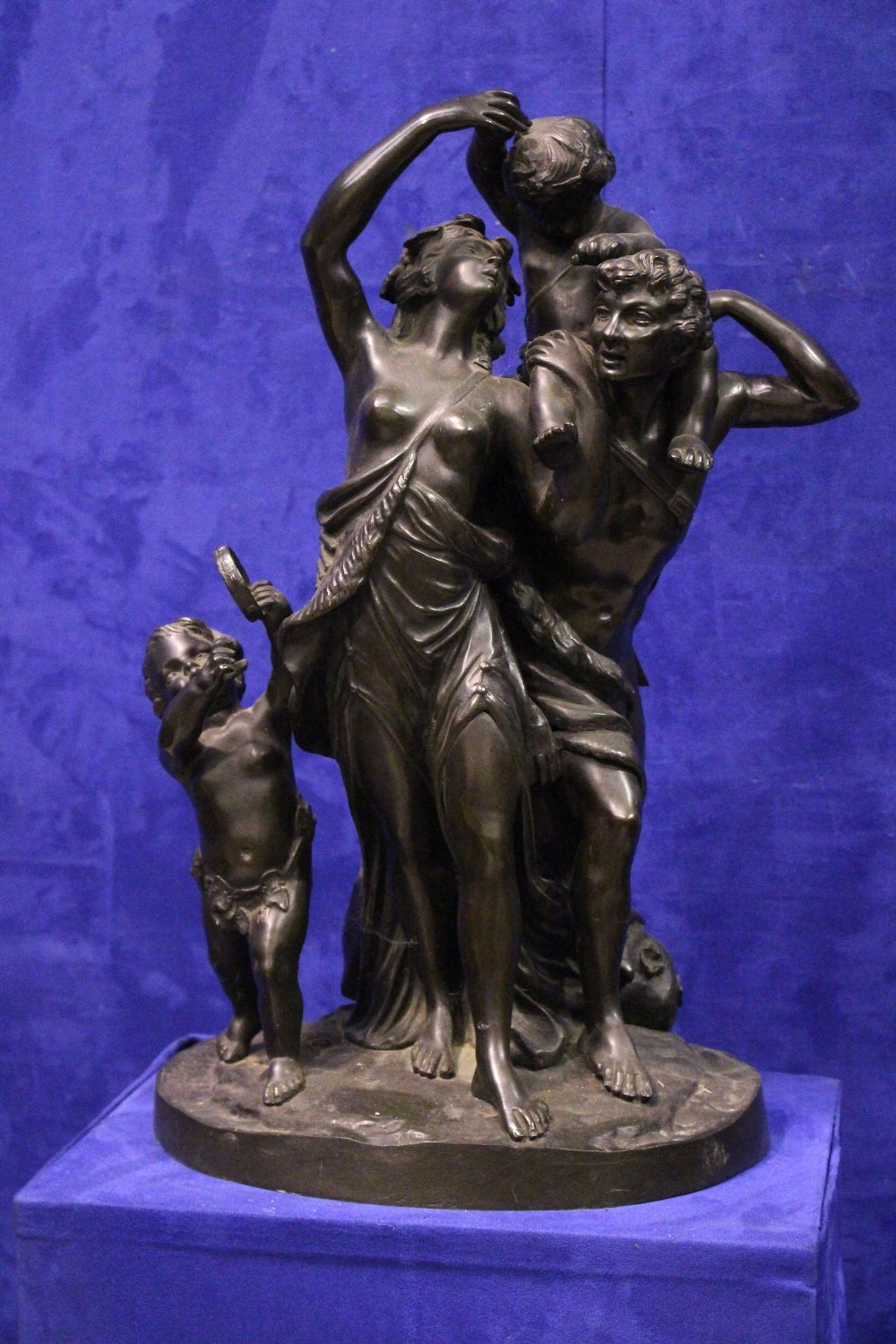 """Lot 60 - AFTER MICHEL CLAUDE CLODIN, (FRENCH, 1738-1814) """"BACCHANTES – THE FAMILY"""", 19th century, a bronze"""