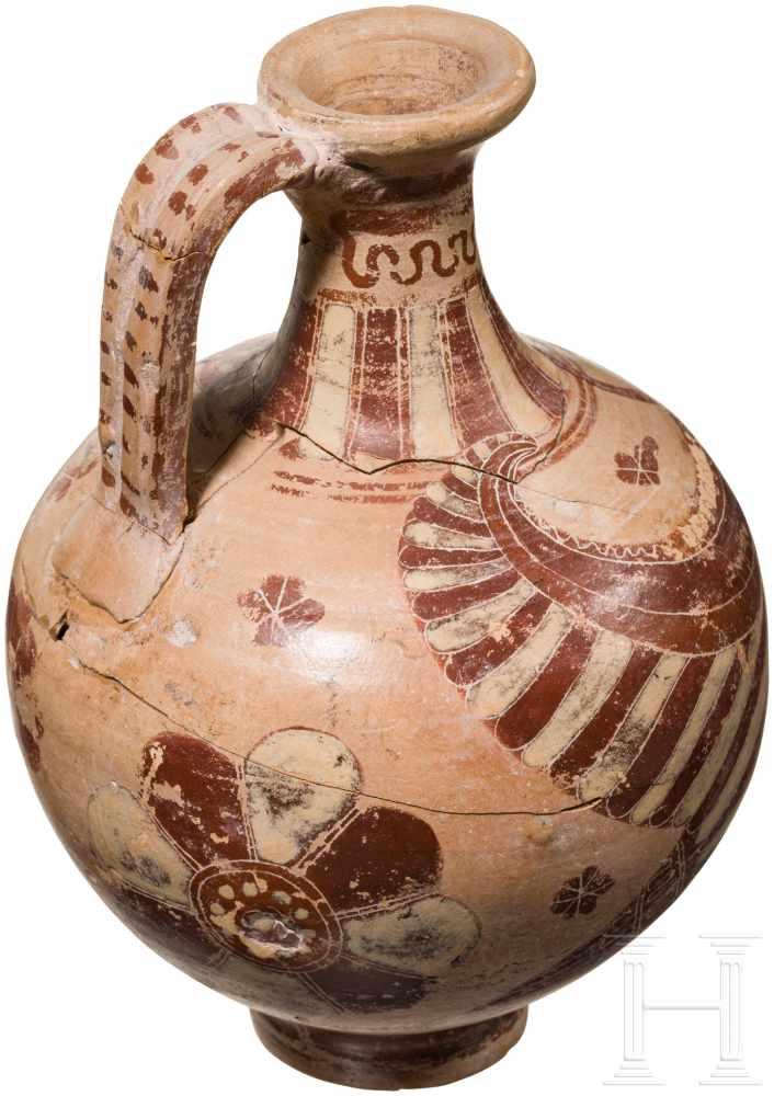 Lot 1645 - Korinthische Kanne mit Tierdarstellung, Griechenland, spätes 7. - frühes 6. Jhdt. v. Chr.