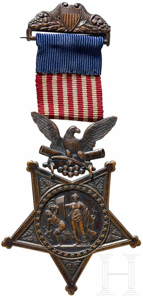 Lot 3909 - Private Machol - Medal of Honor, verliehen an den Indian Scout am 12. April 1875In Kupfer geprägter,
