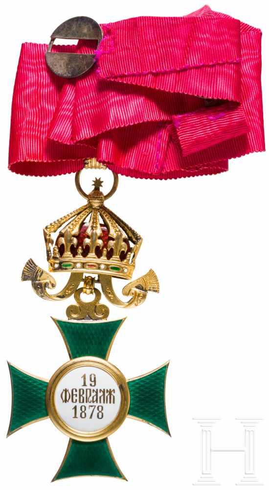 Lot 3857 - St. Alexander-Orden, 3. Modell ab 1918, III. Klasse, Kommandeur-HalskreuzSilber vergoldet und