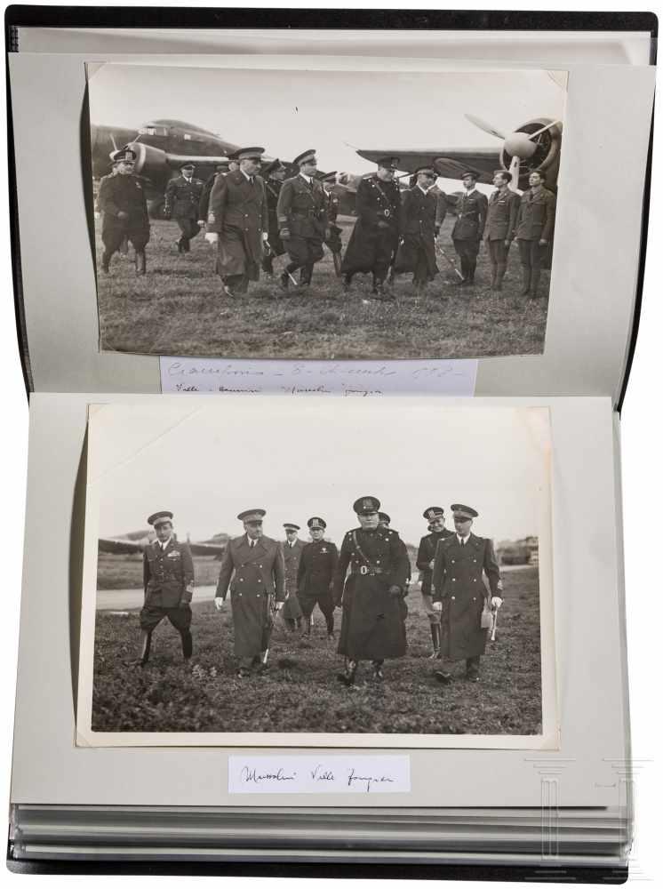 Lot 4144 - General Rino Corso Fougier (1894 - 1963) - drei Alben mit Fotos und DokumentenBand 1 mit ca. 15