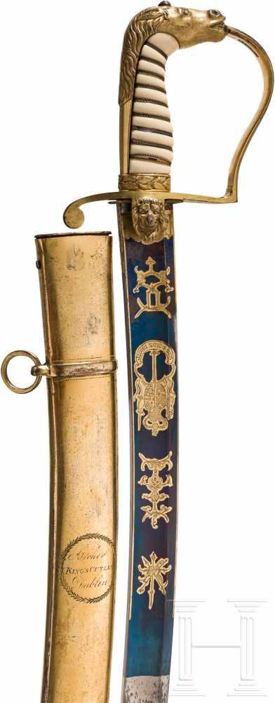 Lot 4093 - Geschenksäbel für einen Captain des Yeoman-Regiments, England, datiert 1800Breite, an der Spitze