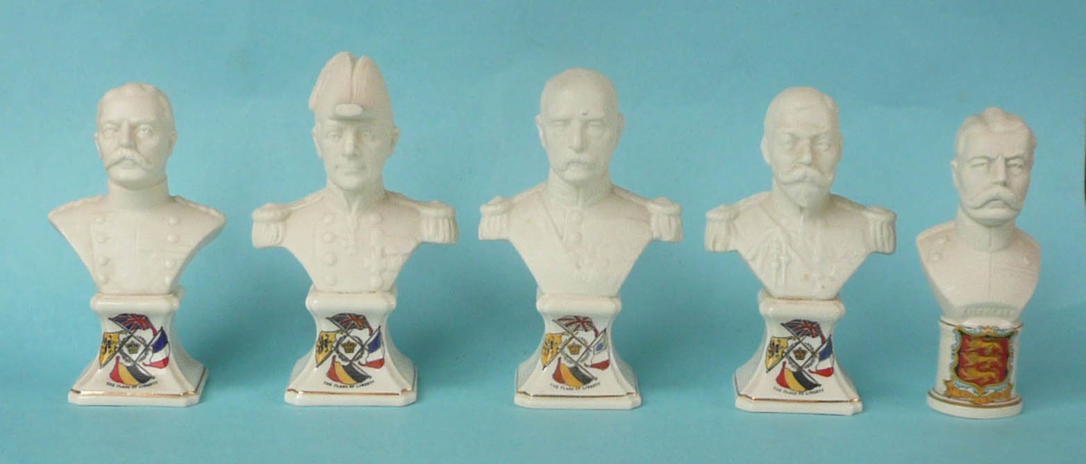 Lot 49 - World War I: a set of four named Grafton China portrait busts of the Commanders on integral bases