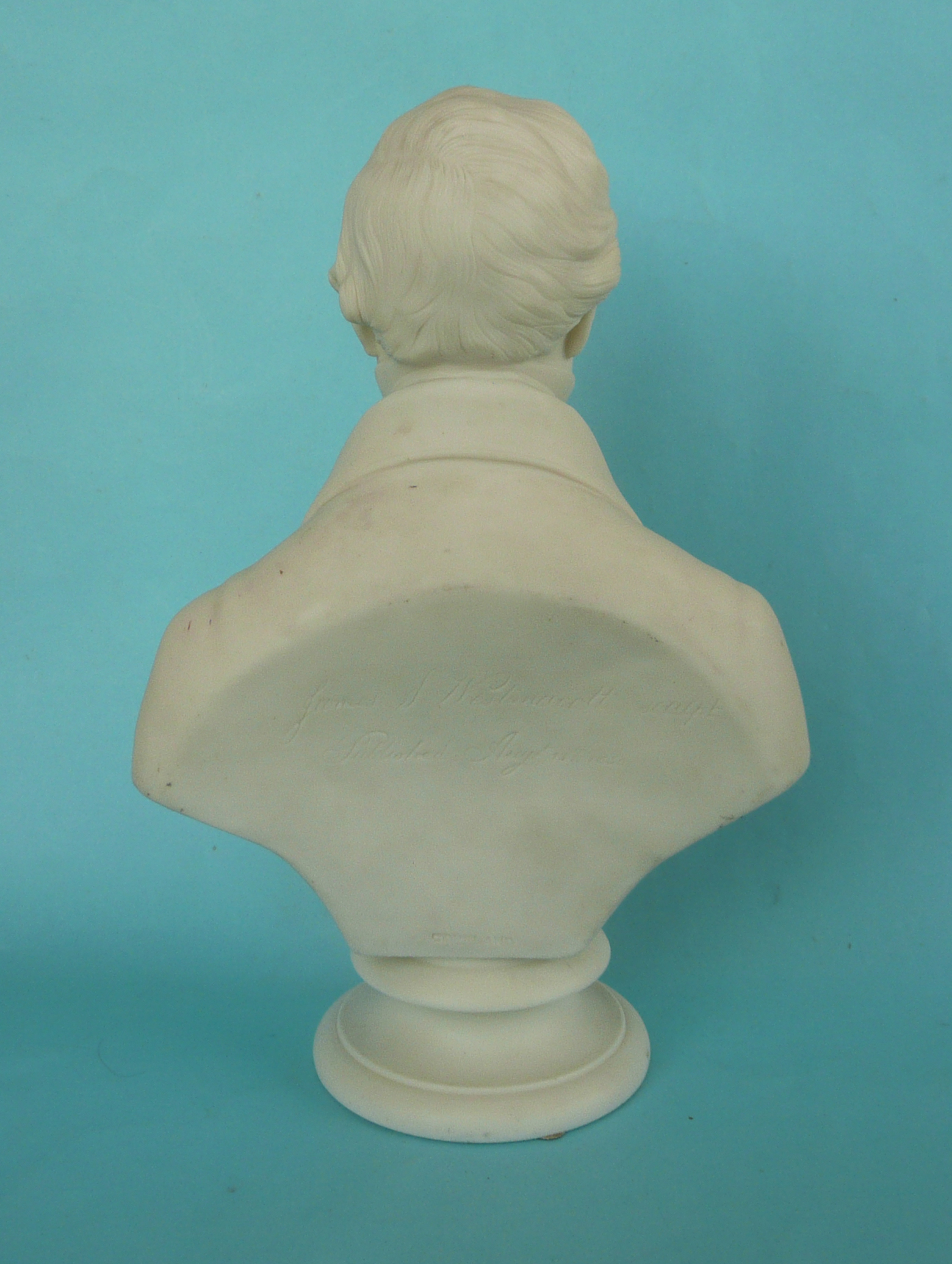 Lot 43 - 1850 Sir Robert Peel: a good white parian portrait bust after James S. Westmacott inscribed and