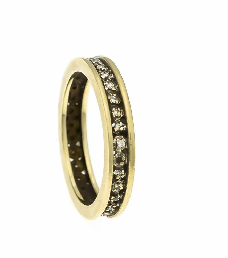 Lot 58 - Eternity-Ring GG 585/000 mit 36 Diamanten, zus. 0,18 ct fancybrown/SI, RG 61, 4,8 gEternity ring
