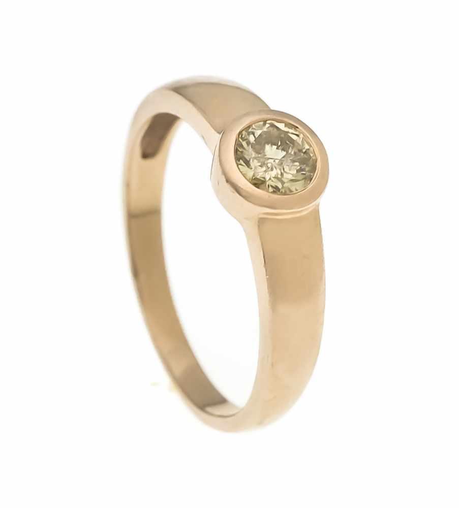 Lot 57 - Brillant-Ring RG 585/000 mit einem Brillanten 0,70 ct fancybrown/PI, RG 63, 4,1 gBrillant ring RG