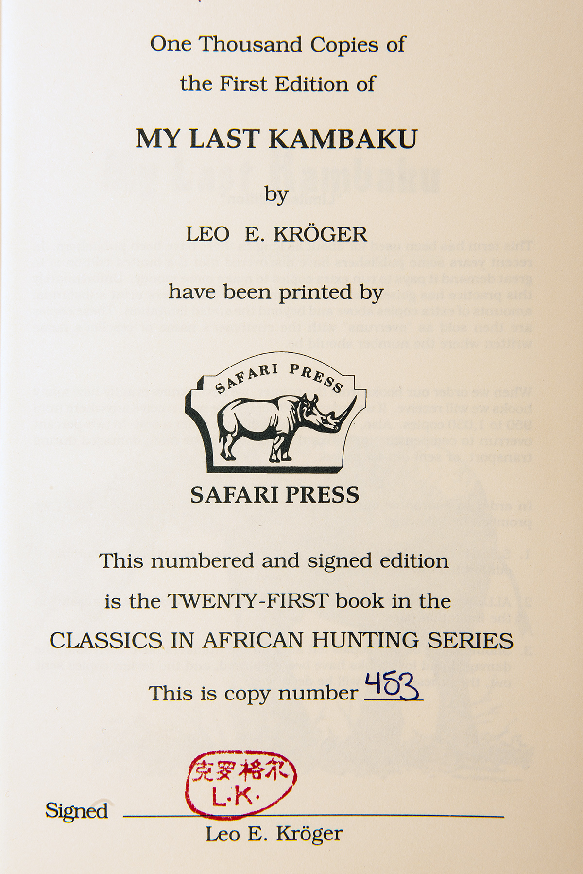 Lot 100 - TWO AFRICAN-THEMED SAFARI PRESS LIMITED EDITION SLIP-CASED HARDBACK BOOKS: HEAT, THIRST, AND IVORY -