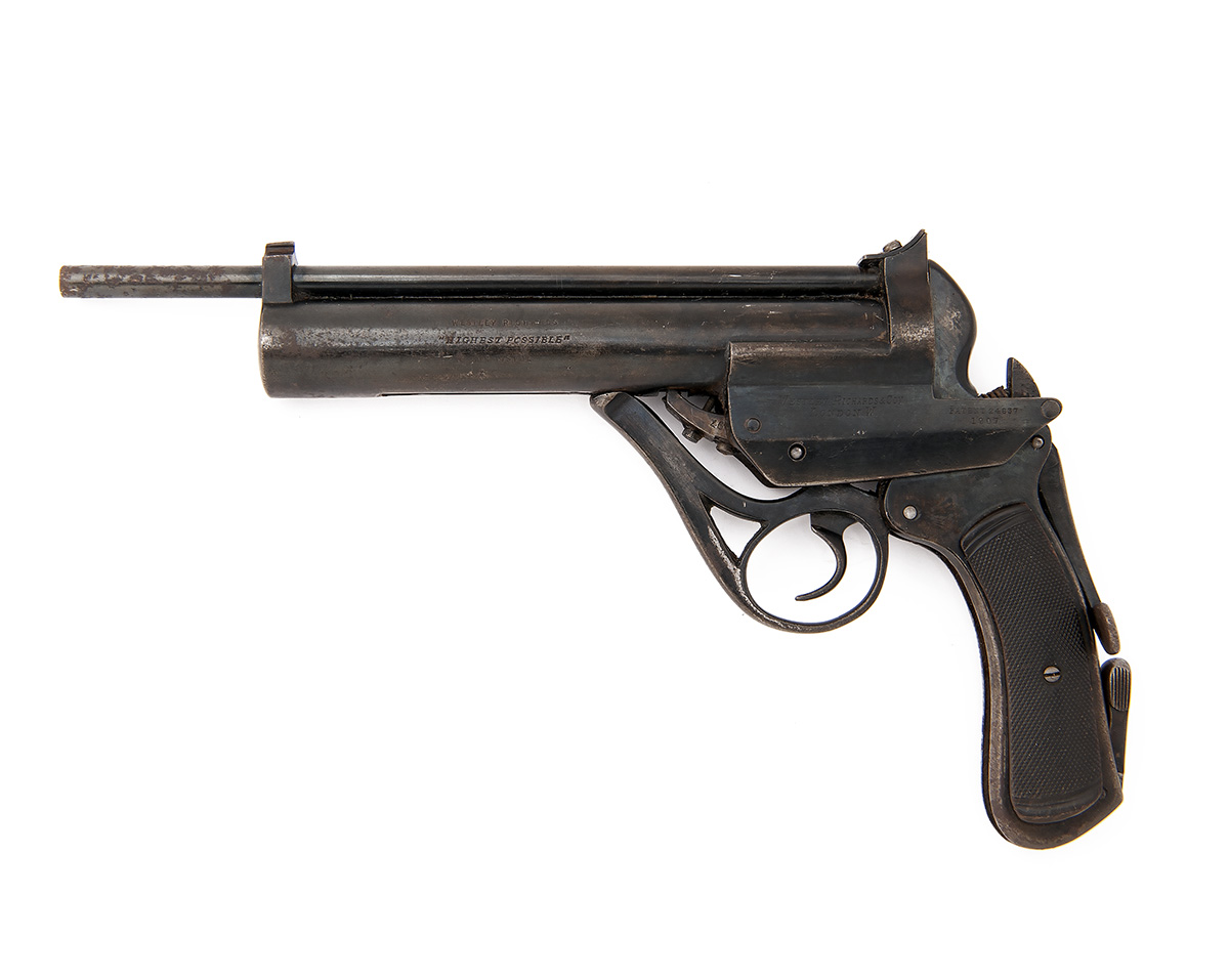 Lot 17 - WESTLEY RICHARDS, LONDON A SCARCE .177 RECEIVER-COCKING AIR-PISTOL, MODEL 'HIGHEST POSSIBLE', serial
